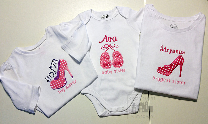 Girly Tees + Onesie with SHOE attitude! – Embroidery