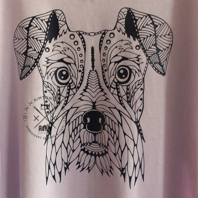 Schnauzer Zentangle Design