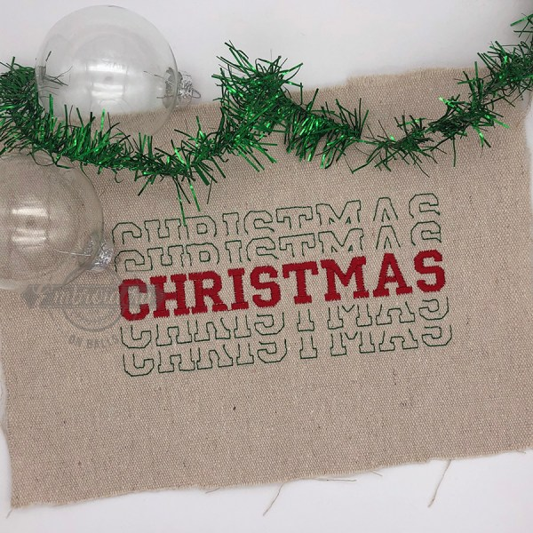 Breakout Christmas - Embroidery Design