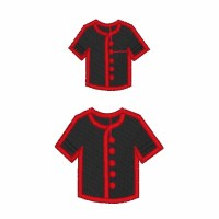 Uniform Shirt Filled Embroidery Design