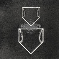 Home Plate Outline Embroidery Design