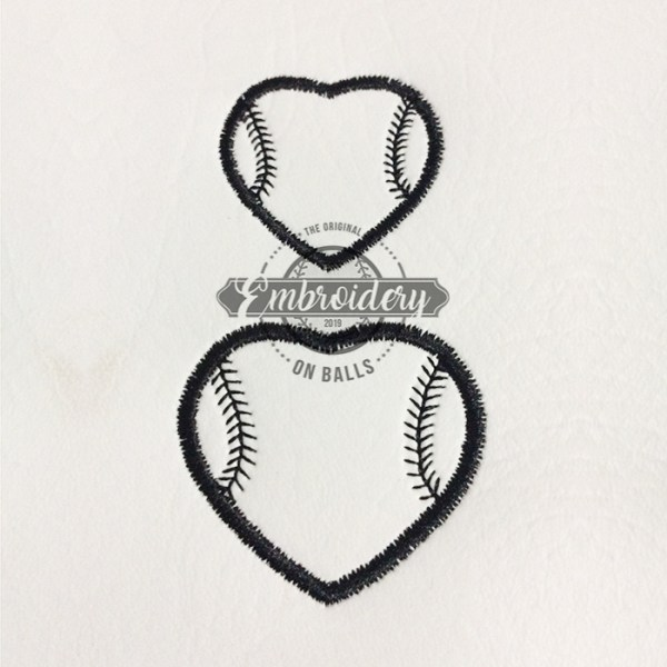 Stitched Heart Outline Embroidery Design