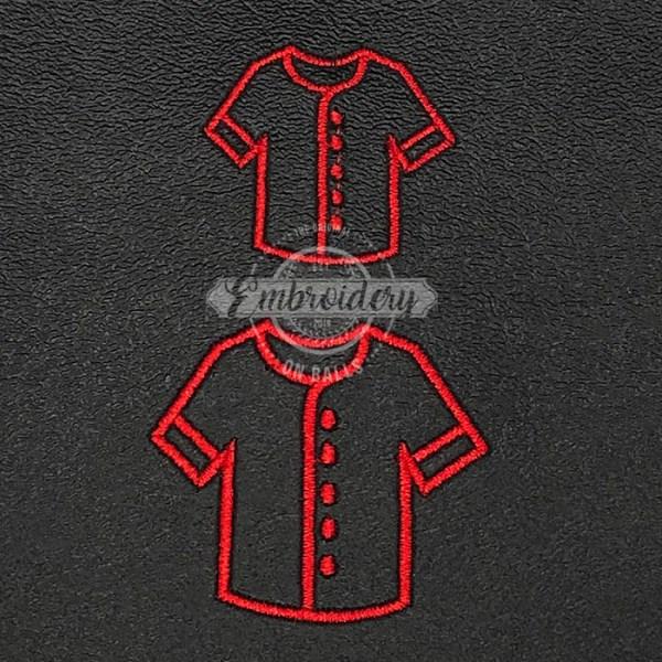 Uniform Shirt Outline Embroidery Design