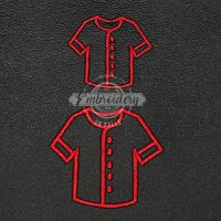 Uniform Shirt Outline Embroidery Design