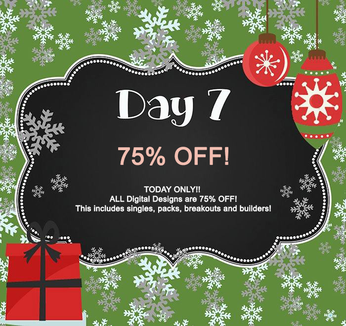 Day 7 -75% OFF TODAY ONLY