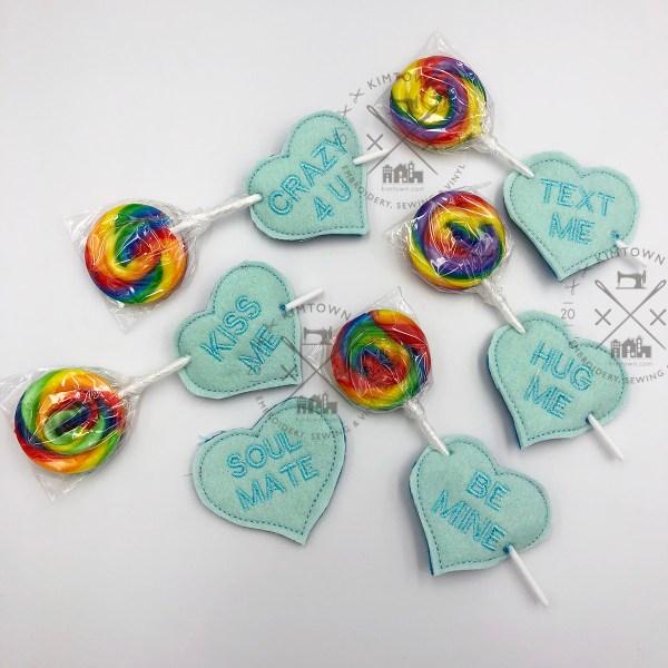 Lollipop Holders Sweet Hearts