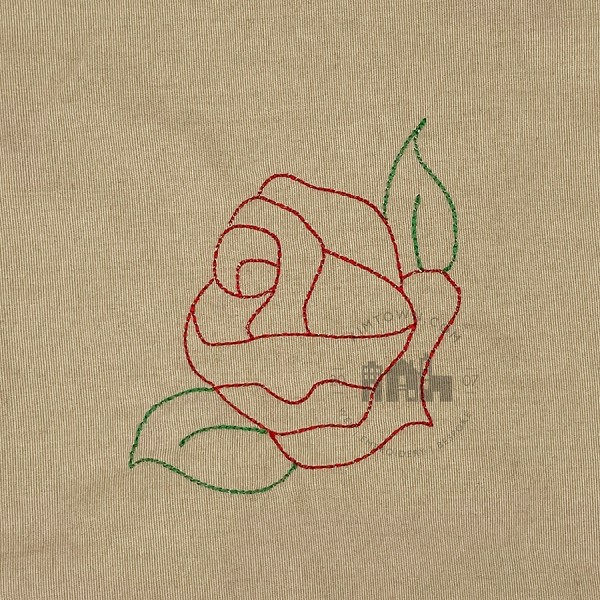 Rose Corner Outline - Machine Embroidery Design
