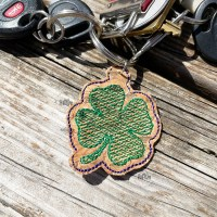 Shamrock Keyfob In The Hoop Machine Embroidery Design