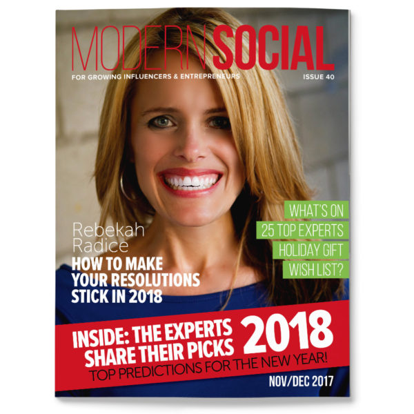 Modern Social magazine with Rebekah Radice