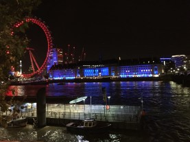 Strolling along the Thames