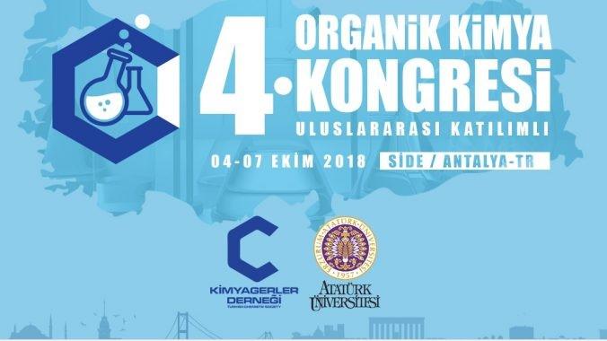 6f122 4. uluslararasc4b1 organik kimya kongresi 04e2809307 ekim 2018 tarihlerinde yapc4b1lacak