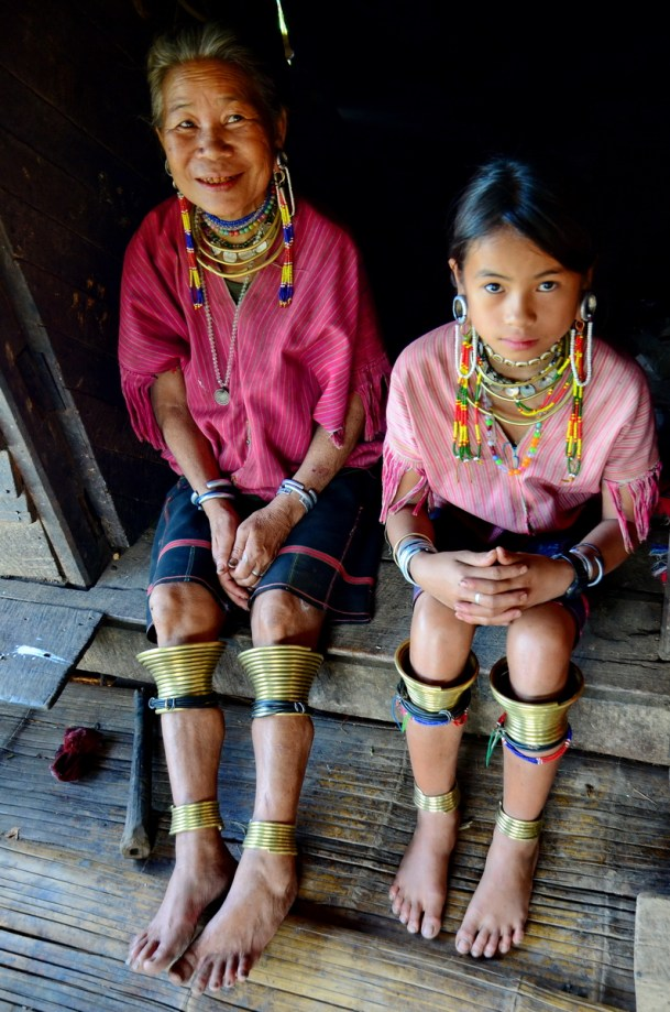 Kayaw model with her grandmother