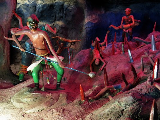 Punishment in Hell - Bodies stabbed by spears