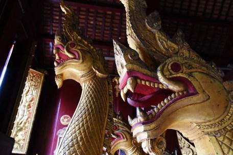 Dragon boats at Wat Xieng Thong