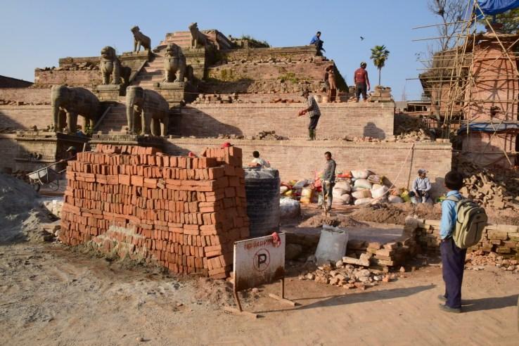 Destroyed Stupas