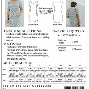 frock sewing pattern size chart comfortable design shape