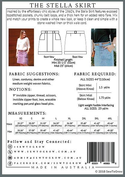Dressmaking skirt patterns easy to sew sunshine coast