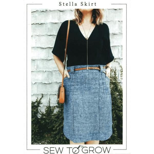 easy to sew knee length skirt patterns