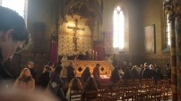 People queing to see the vial of Christ's blood - Basilica of the Holy Blood