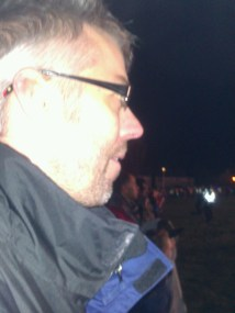 Hubby couldn't tear his eyes off the pyrotechnics either