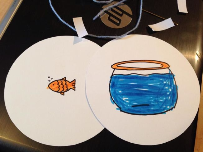 Could we spin our optical illusion fast enough to get the fish in the bowl?