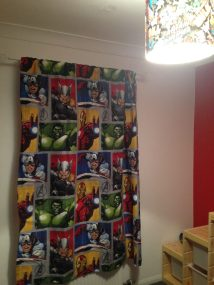 And their Avengers-themed play room