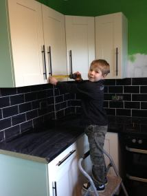 Then Tadpole had to check the cabinets were right...