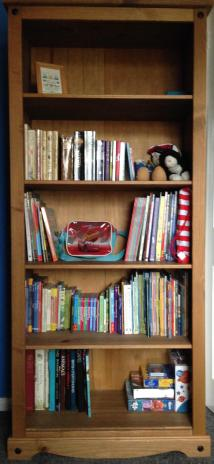 Some of the books and toys are now unpacked and in place in the play room