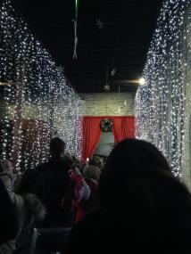 Getting close to Santa's grotto