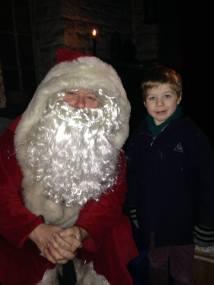 Tadpole with Santa