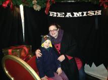 Posing on Santa's sleigh