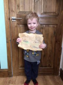 March - Choochie made a treasure map