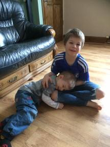 February - Choochie and Tadpole having a cuddle