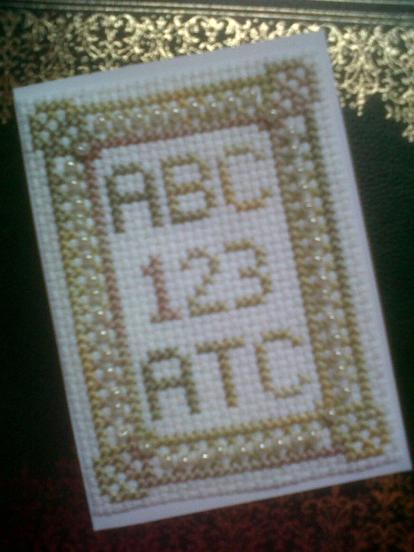 Abc 123 Atc Cross Stitch Kincavel Krosses