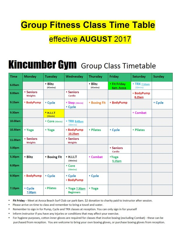 group fitness classes in kincumber