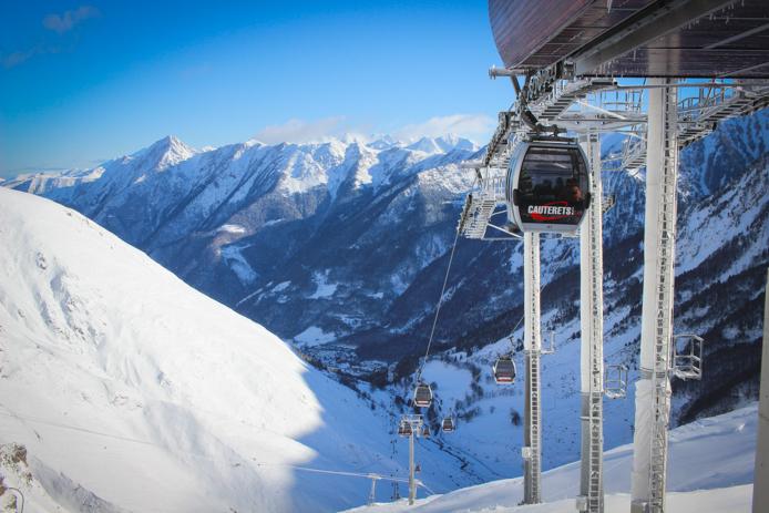 Cauterets télécabines de la station de ski
