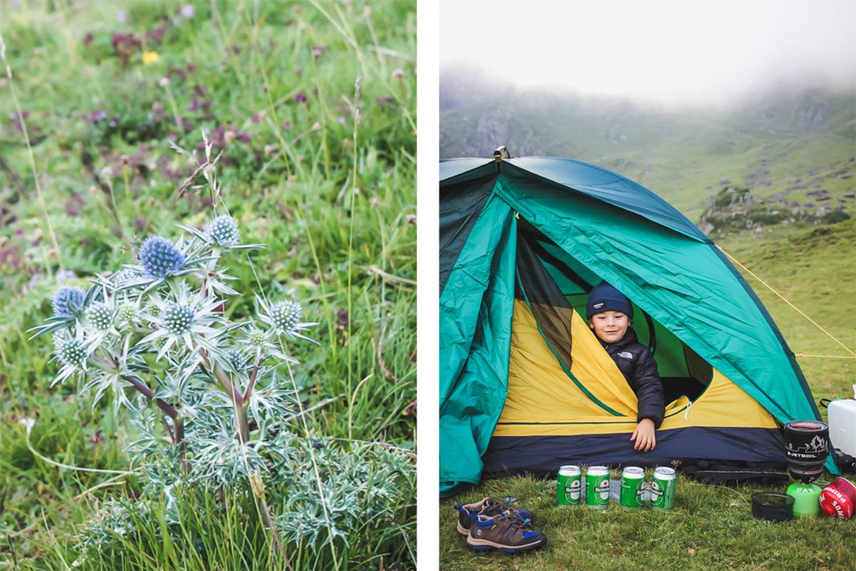 Tente Queshua en bivouac au lac d'Ayous dans les Pyrénées