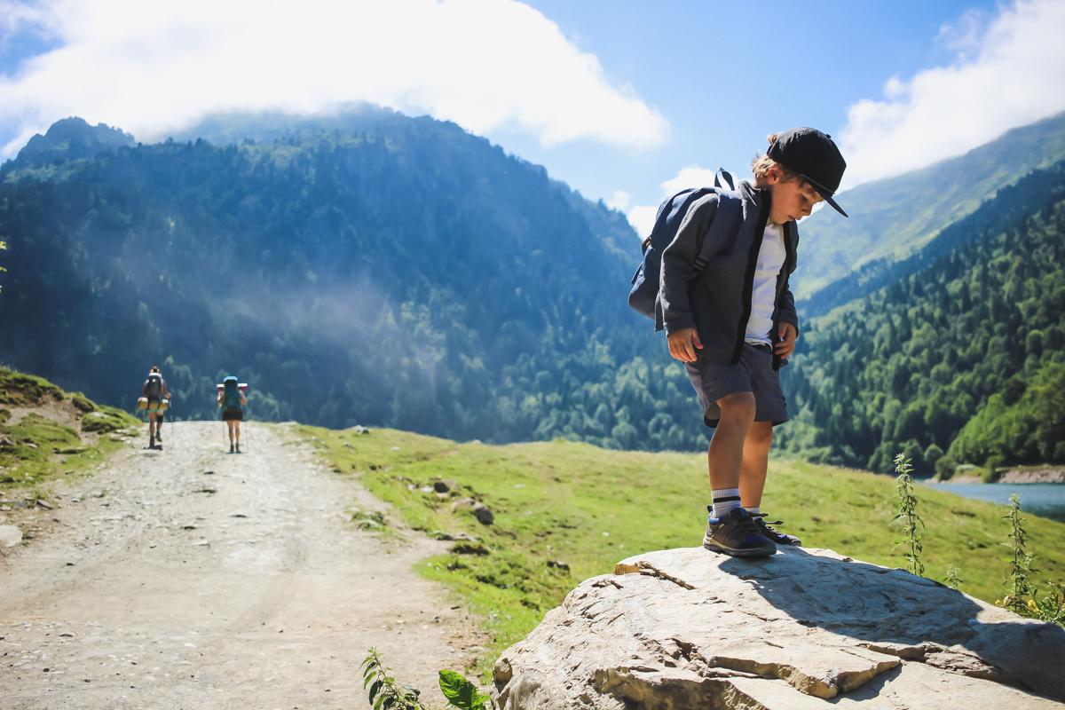 Départ de Bious Artigues pour la randonnée des lacs d'Ayous dans les Pyrénées en Vallée d'Ossau