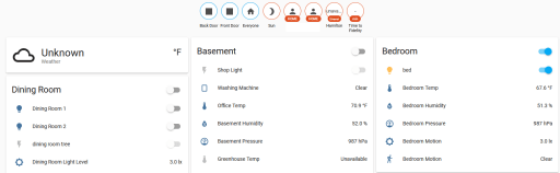 Screenshot of Home Assistant Running in Docker