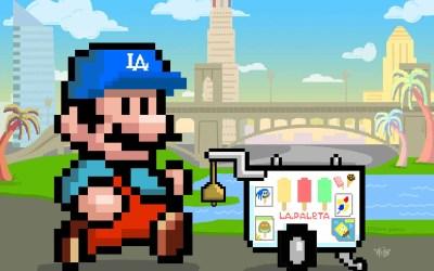 Super Paletero Mario! 8-Bit Pixel Illustration
