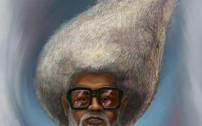 White Afro – First Painting of 2021