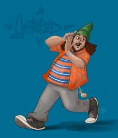 Illustration of Crazy Dave (Felipe Esparza) - Gentefied