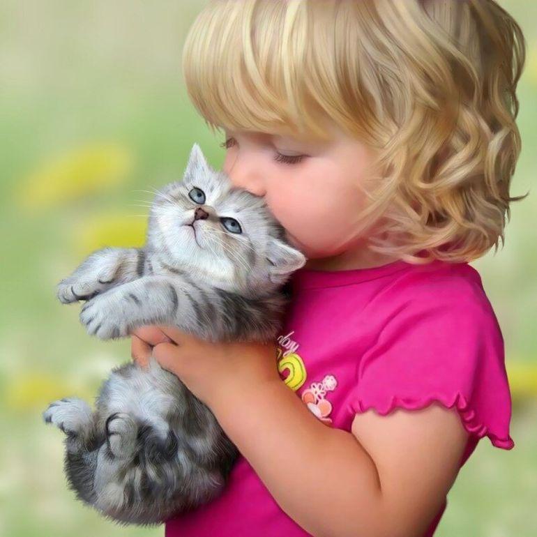 Дети и животные: такой важный друг - 1