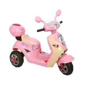 Elektrische kinder scooter 6V roze 9