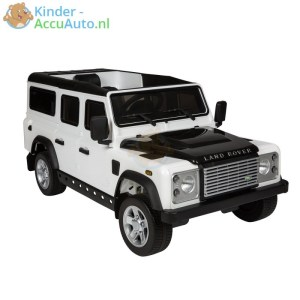 Kinderauto wit landrover defender 1