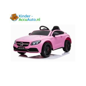 Mercedes C63 Roze Kinderauto AMG 1