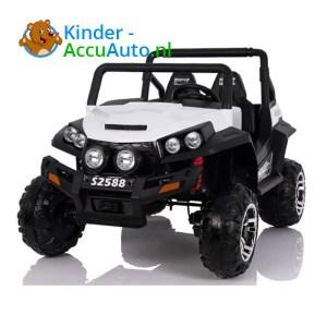 elektrische kinderauto beach buggy 4x4 wit 1