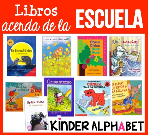 Spanish Books about School for Kindergarten