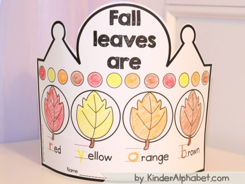 thematic crowns fall leaves pic