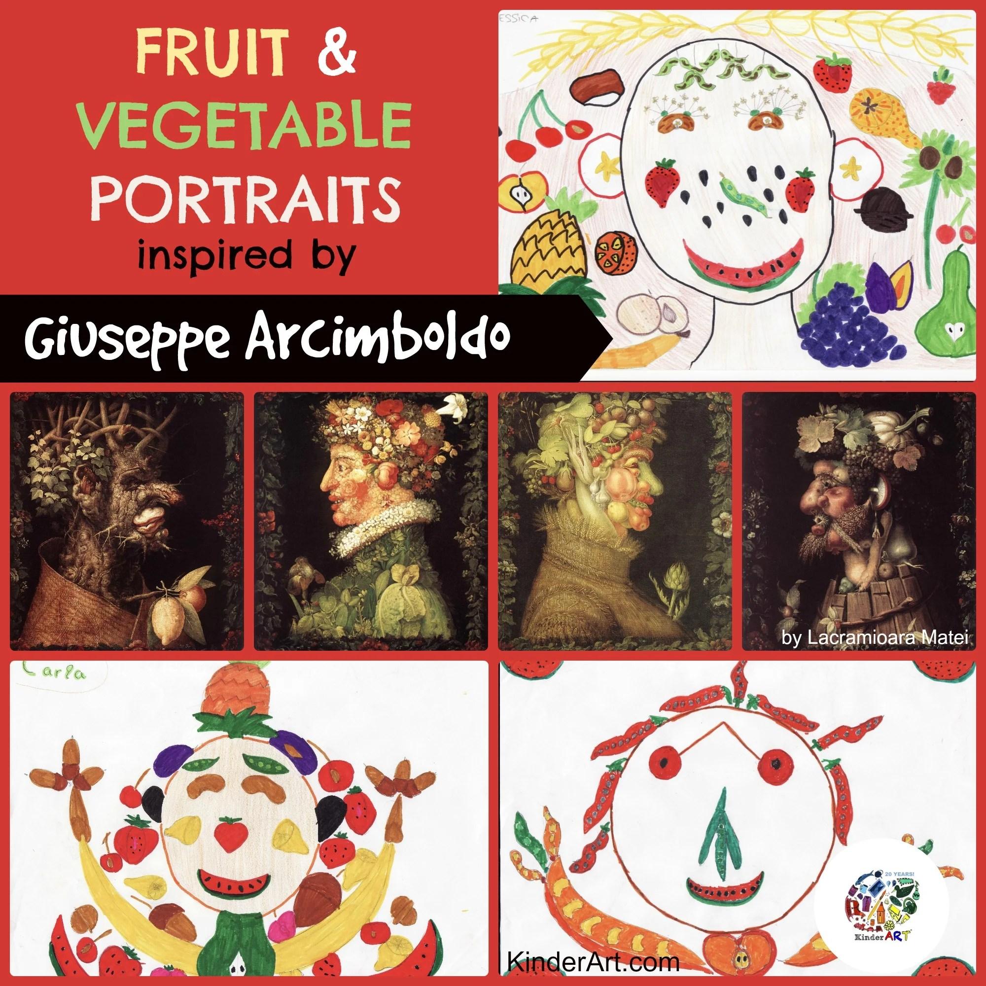 Fruit And Vegetable Portraits Giuseppe Arcimboldo
